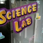 science party front sign