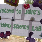 science party sign