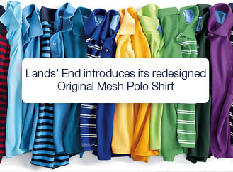 Father's Day Product Review & Giveaway: Lands' End Mesh Polo Shirt
