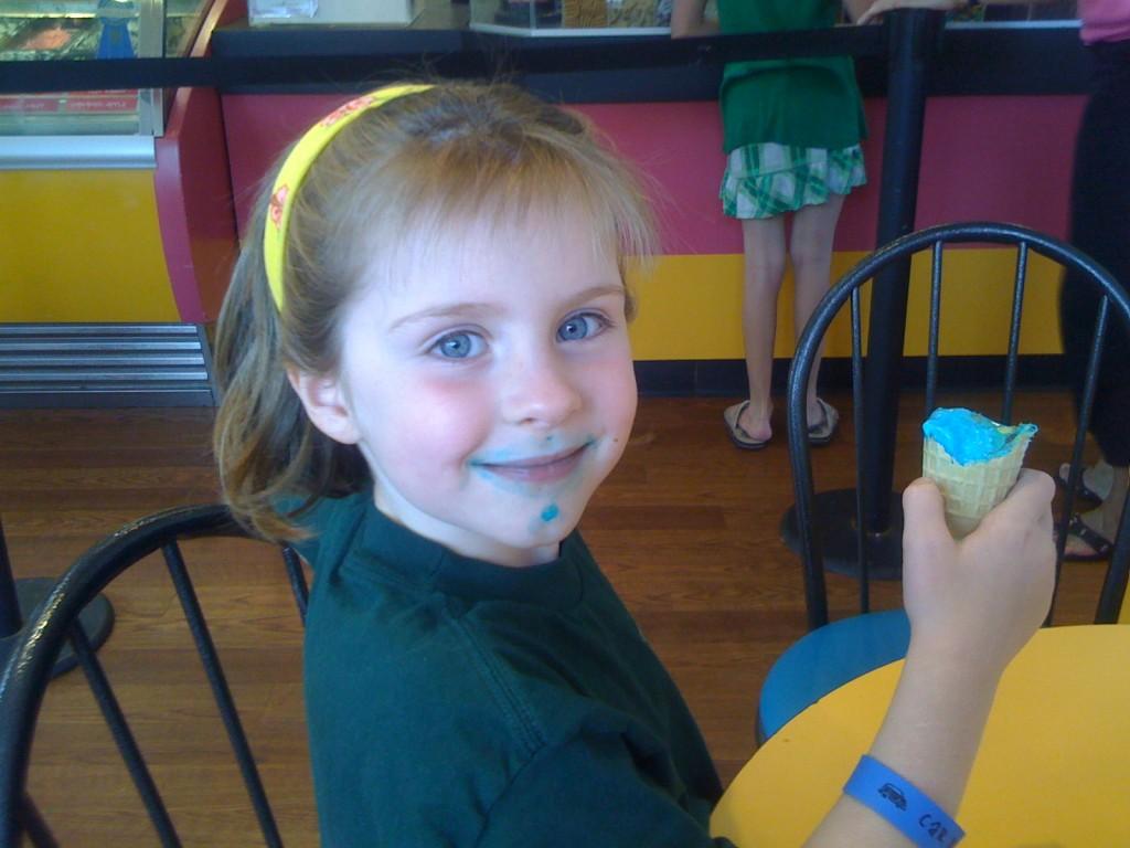 Julie's 1st Day of School Ice Cream_Kindergarten