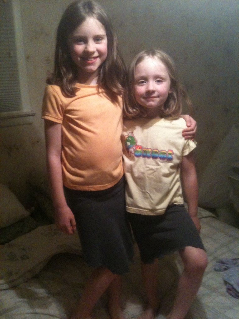 Sweat Skirts (or My Daughters Are The Size of My Legs)