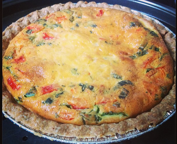 OWTK Recipe Box: Quick and Easy Caprese Quiche