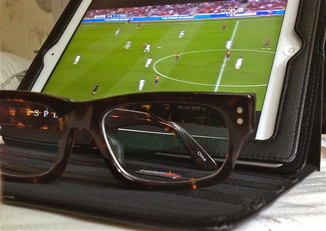 Lookmatic glasses and FC Barcelona on the iPad