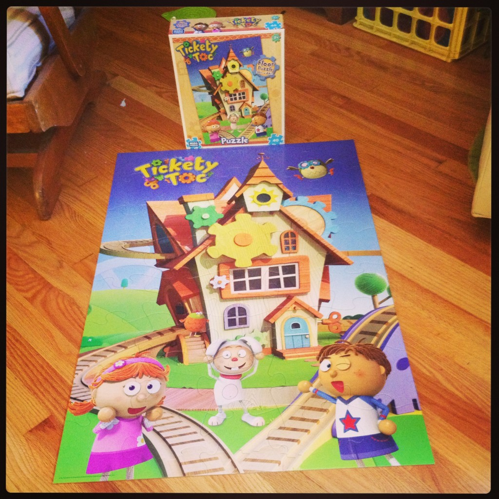 Tickety Toc Floor Puzzle Built