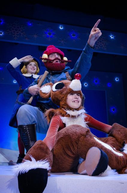 Rudolph Musical Chicago Hermey Yukon Scene