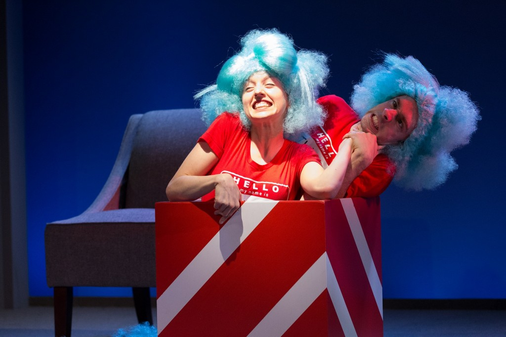 The Arden Theatre Cat in the Hat Press Photo 6_Charlotte Ford (Thing 1) and Dave Johnson (Thing 2)_credit Mark Gavin