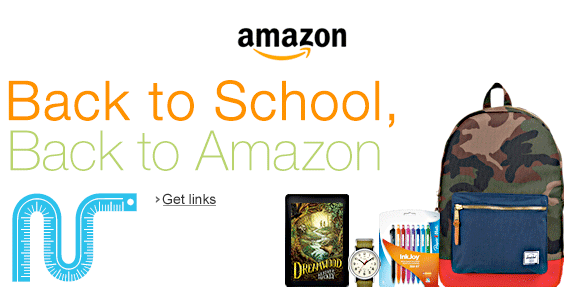 Amazon 2014 Back to School Sale Image
