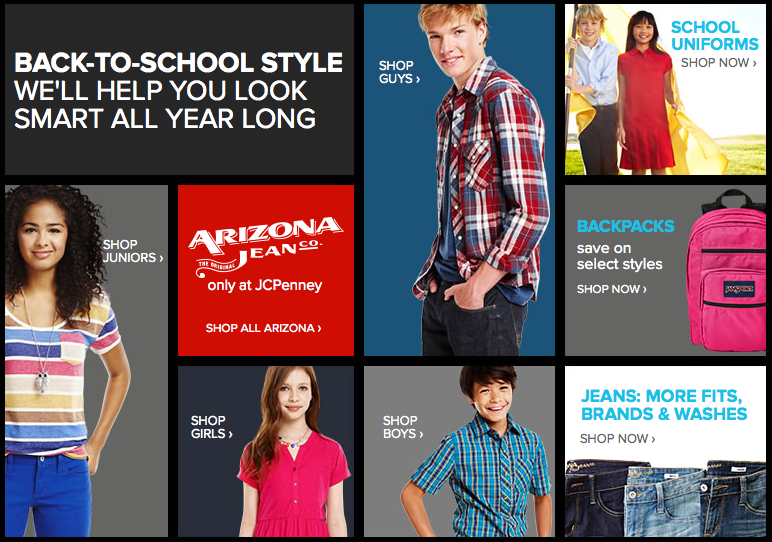 JC Penny 2014 Back to School Sale Ad