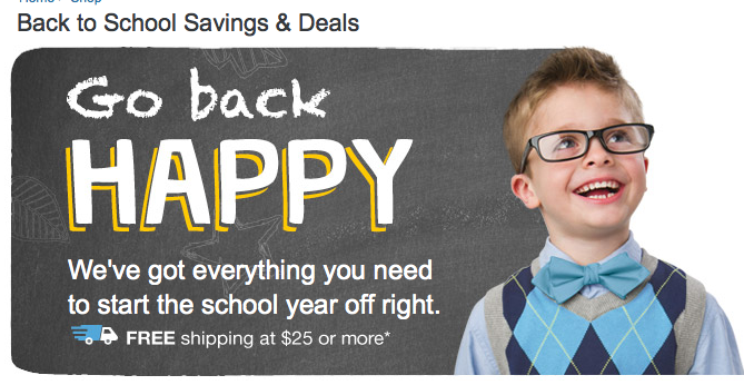 Walgreens 2014 Back to School Sale