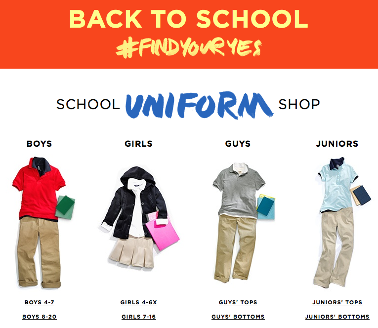Kohl's 2014 Back to School Sale