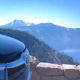 2014 Toyota Highlander at Crater Lake rim drive