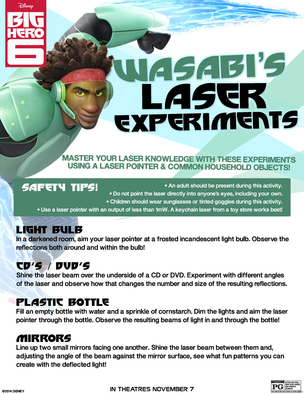 Free Big Hero 6 Activity Sheets, Science Experiments and Recipes ...