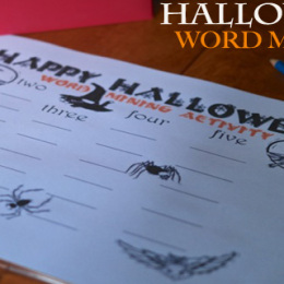 Halloween Word Mining Activity on PBS Parents