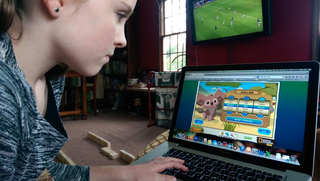 Daughter Setting Up Her Profile in Animal Jam