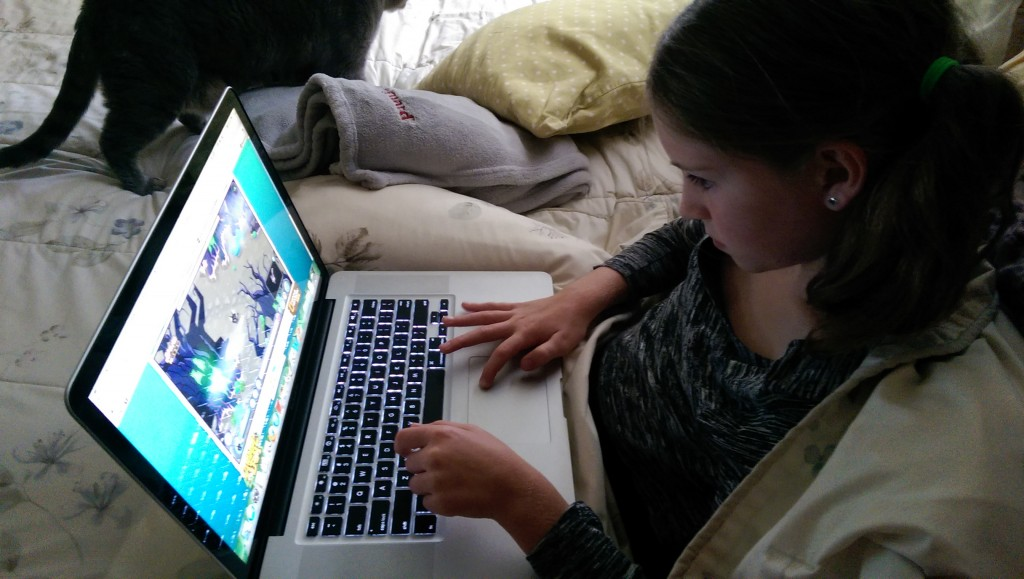 Daughter Playing Animal Jam