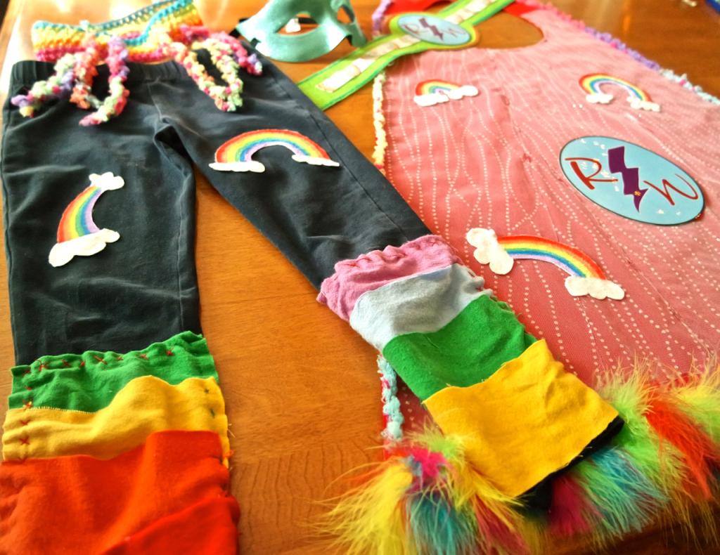 Homemade Halloween Costume Rainbow Warrior Full Costume