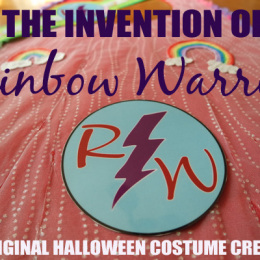 Meet Rainbow Warrior — An Invented and Homemade Halloween Costume Superhero