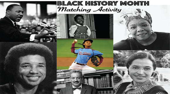 PBS Parents Black History Month Matching Activity Sheet Title Image