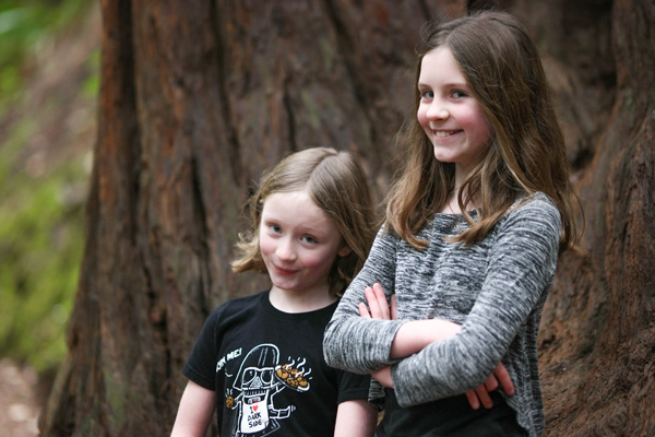 Two girls on the forest moon of endor