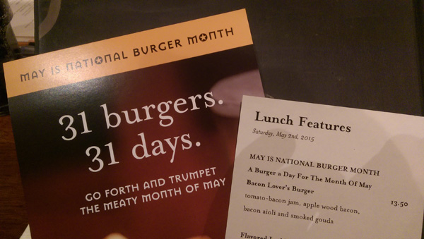 Iron Hill Brewery Burger Month Day 2 Menu