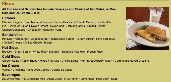 Iron Hill Brewery Best Kids Menu