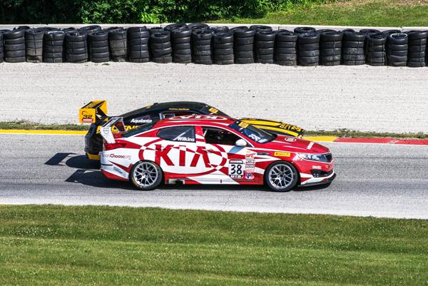 Looking foolish to the crowd_Kinetic Motorsports Kia Racing