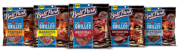 Ball Park Flame Grilled Jerky Lineup
