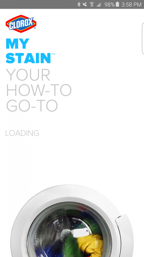 Clorox MyStain App Screenshot OPening image