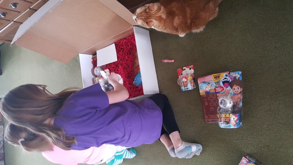 Opening up the Yo-Kai Watch Box