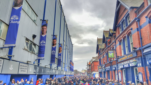 Everton FC Goodison Park Post Match Outside Arsemal Match March 2016