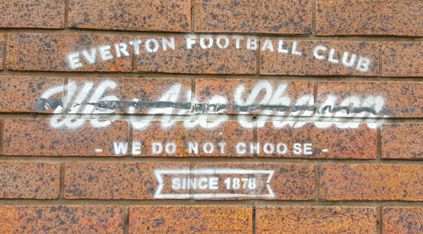 Everton FC Goodison Park We Are Chosen Sign
