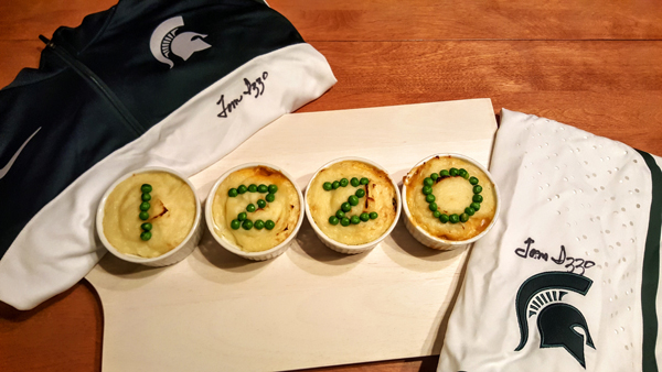 March Madness Spartans Shepherd's Pie Appetizer Recipe