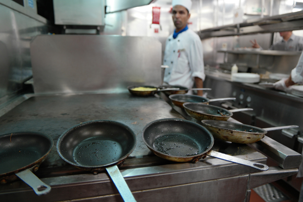 An Exclusive Look Inside A Carnival Cruise Ship Kitchen Out With - Cruise ship kitchen