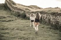 Two Kids Walking Hadrian's Wall