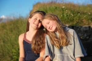 Photos of Growing Up OWTK Daughters on Hadrians Wall