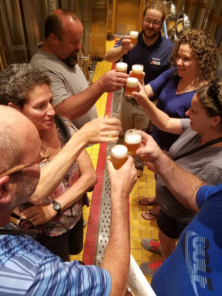 Carnival Vista Red Frog Brewery Tour Toast