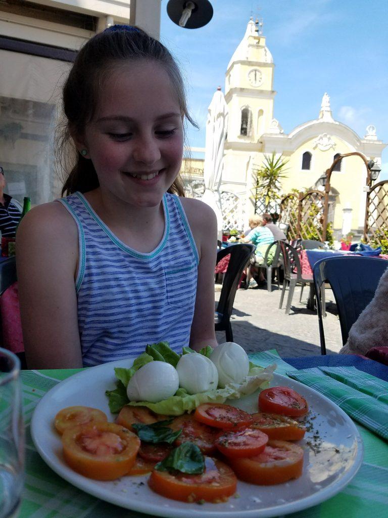 Travel Bucket List Check Mark: Eating Fresh Mozzarella and Tomato Salad in Italy!