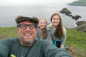 Jeff Bogle and daughters the tween years are the best