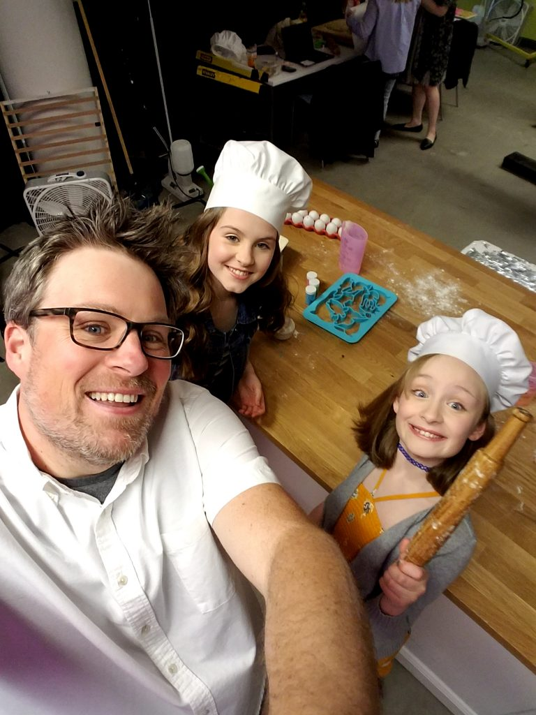 Bogle dad daughter zulily baking sales event selfie