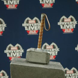 Marvel Universe Live Age of Heroes_rehearsal Thor Hammer
