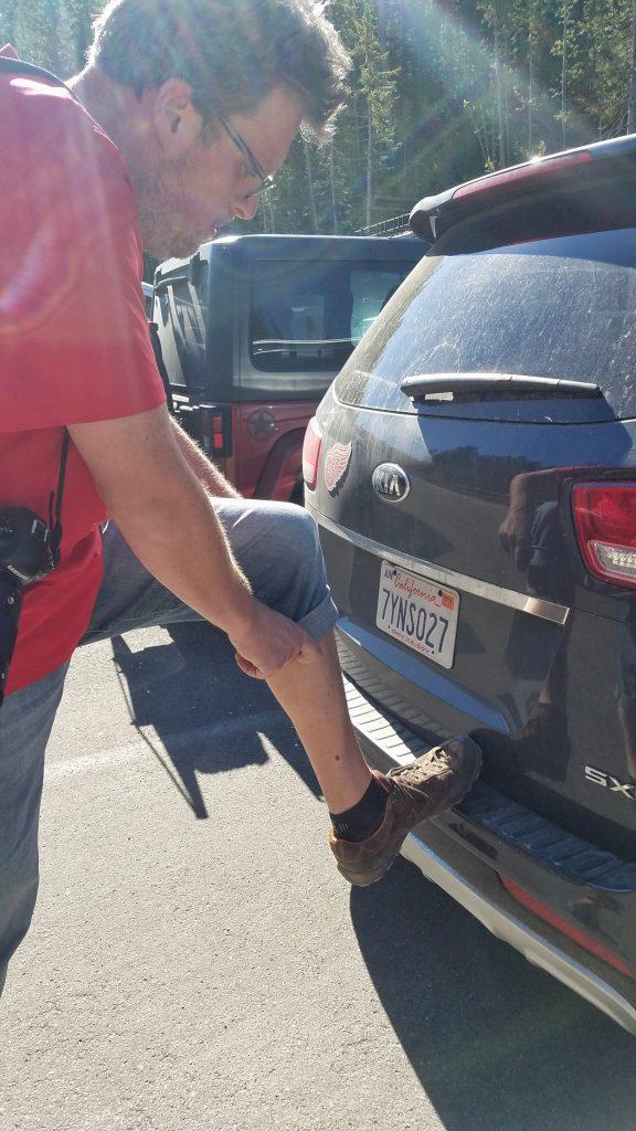 Kia Sedona Parked in Artist Point Parking Lot Yellowstone