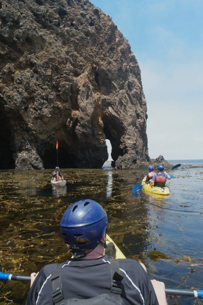 KiaSBExp Focus and Fun of Channel Islands Cave Kayaking Elephant Arch