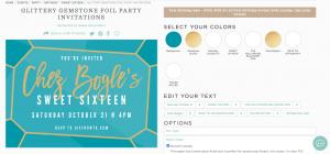 OWTK Basic Invite Sweet Sixteen 2