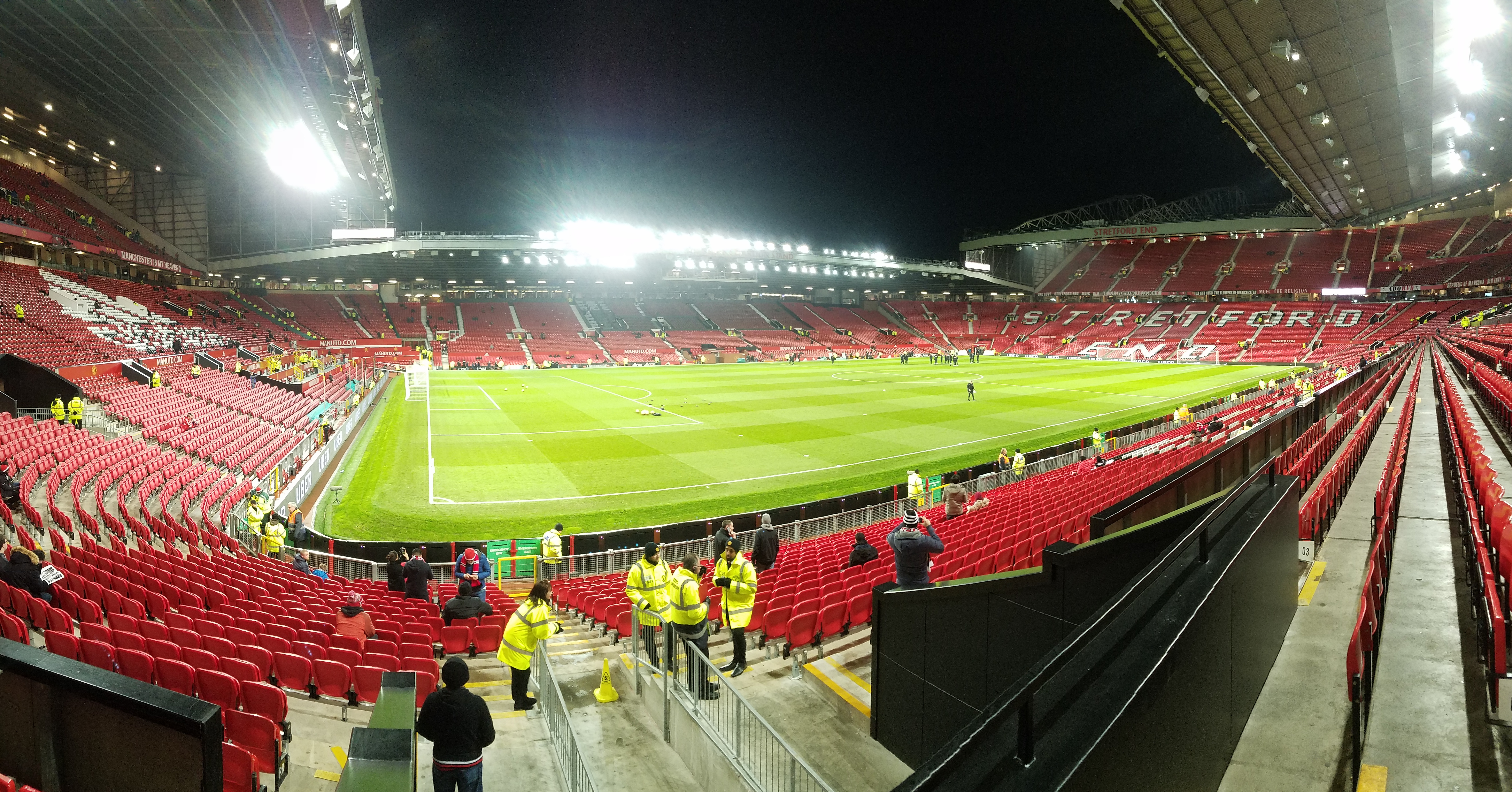 Manchester United Old Trafford Bournemouth pano