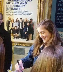 Dear Evan Hansen Music Box NYC Stage Door Autograph Hunting Laura Dreyfuss