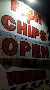 Huddersfield Town Chelsea Dec 2017 fish and chips