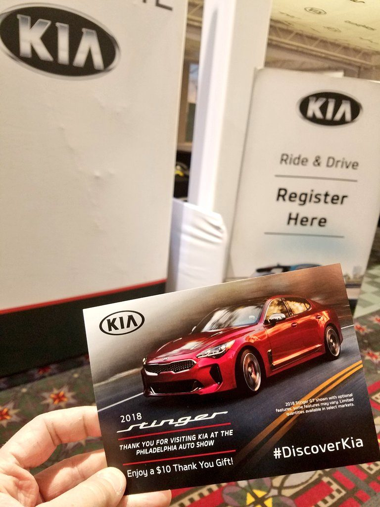 KiaAutoShow Philly Stinger Ride and Drive