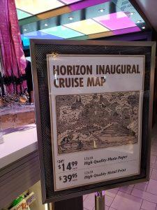 Cruising Carnival Horizon Inaugural Map