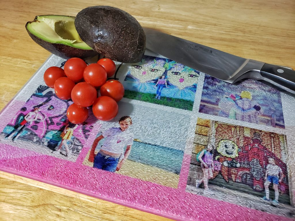 Snapfish Unique Father's Day Gifts photo collage cutting board