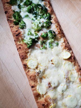 The Accidental Zucchini Pizza in Bracciano Italy